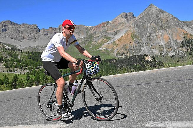 JSS climbing the Col d'Izoard.