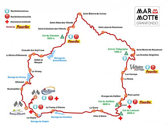 2015 saw the Marmotte Granfondo route altered to avoid a tunnel closure but the classic route is back for 2016.