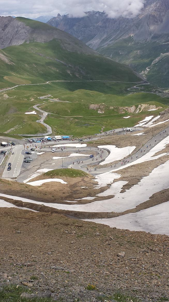 Looking down from the top of the Galibier.