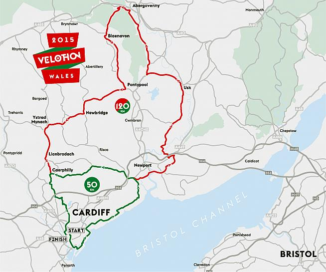 The Velothon Wales offers two routes of 50km and 120km on completely closed roads through the countryside of South Wales.