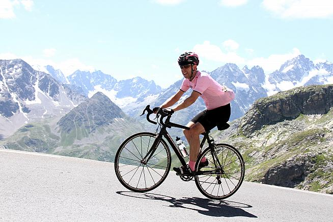 Sportive publisher Joe tackling the Galibier on the 2014 Marmotte.