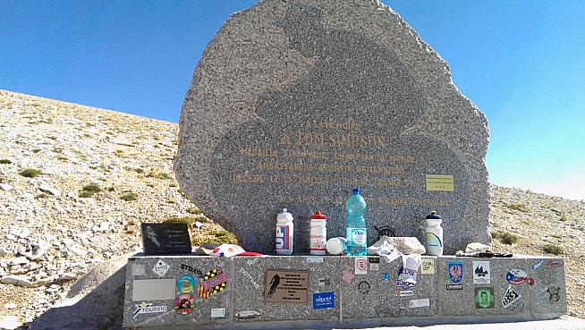 The famous Tom Simpson memorial.