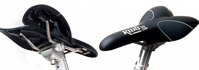 The RLt's unique design redirects pressure and is claimed to help riders maintain optimum pedalling position.