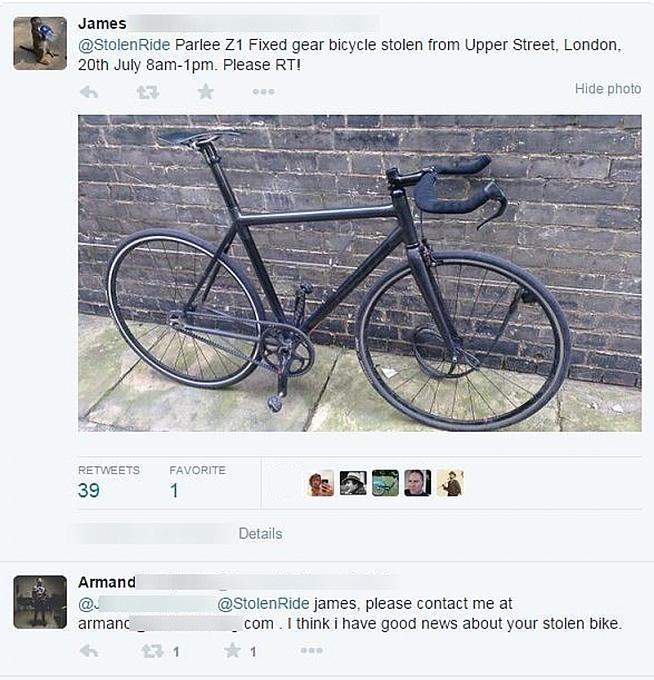 Your stolen bike is sipping sangria.