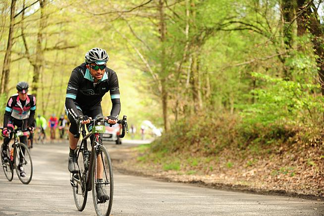 Not out of the woods yet - the LBL sportive adds an extra 20km to the pro race distance.