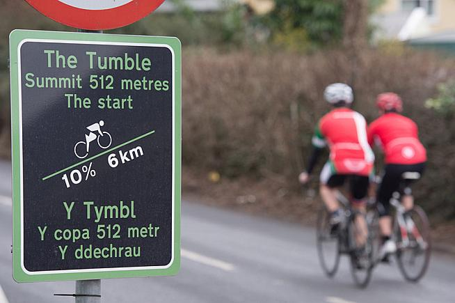 The Tumble featured as a hill climb challenge on the 2015 Velothon.