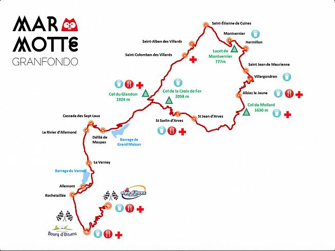 This year the Marmotte features a new loop before retracing the road back to Bourg d'Oisans for the ascent of Alpe d'Huez.