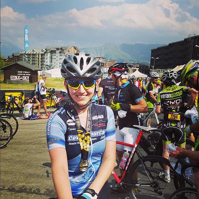 All smiles at the finish. Photo: Instagram - rachokingo