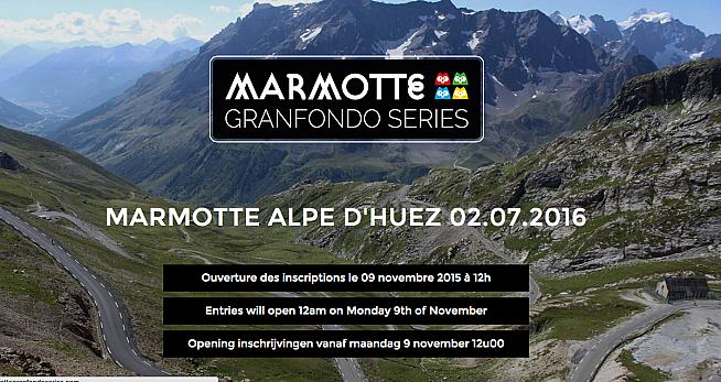 The revamped website for the Marmotte Granfondo sportive series.