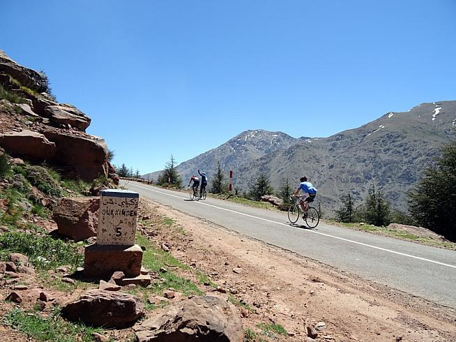 Under African skies... The Marrakech Atlas Etape packs in over 2000m of cimbing.
