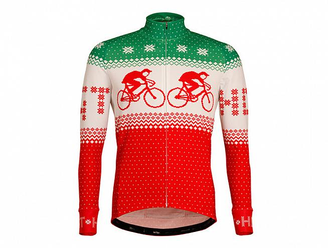This irresistibly Christmassy cycling jacket from Hackney GT is bursting  with festive flavour. Made in England with fabrics sourced from a pro-team  supplier ... c3b45d660