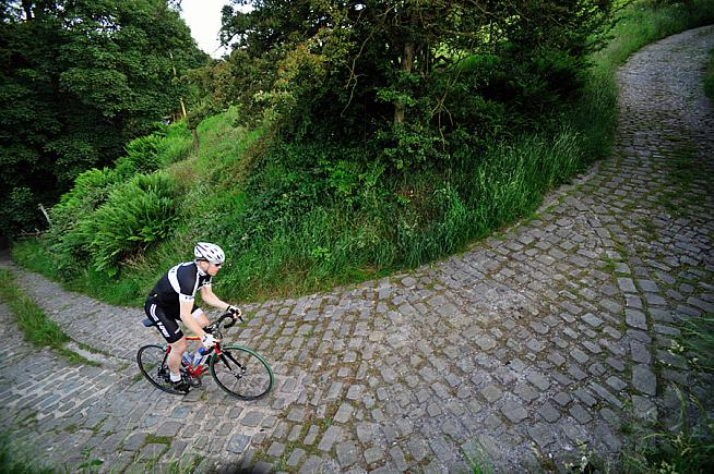The 45% gradient of the Corkscrew awaits on the Wilier Cheshire Cobbled Classic.