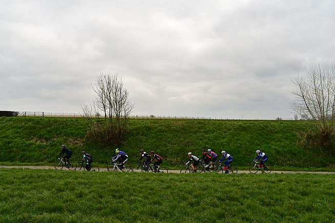 The Ronde passes through scenic Flanders countryside. Photo: Sportograf