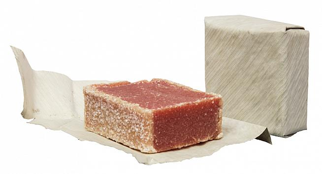 The bocadillo is a natural energy source made of guava fruit and sugar.
