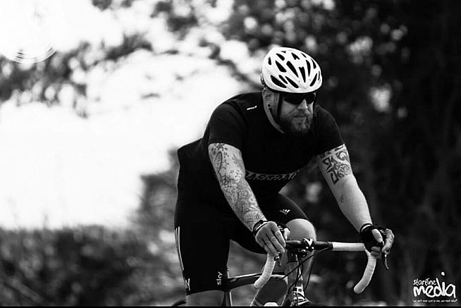 Adam Turner in training for his first sportive at Velothon Wales.