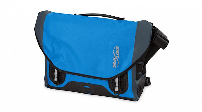 The Urban Shoulder Bag from SealLine is a waterproof courier-style bag designed for cycling commuters.