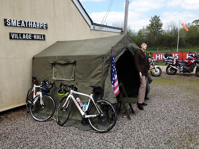 Smeatharpe village hall hosted a feed station.