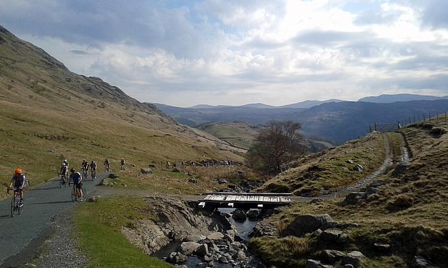 The climb up Honister Pass.