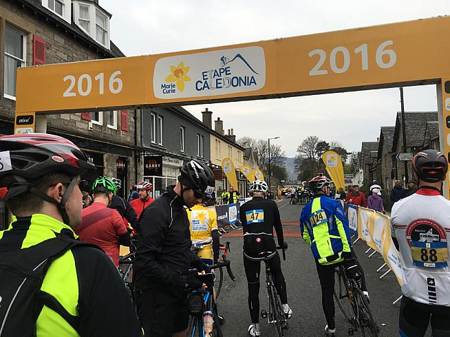 The start line in Pitlochry.