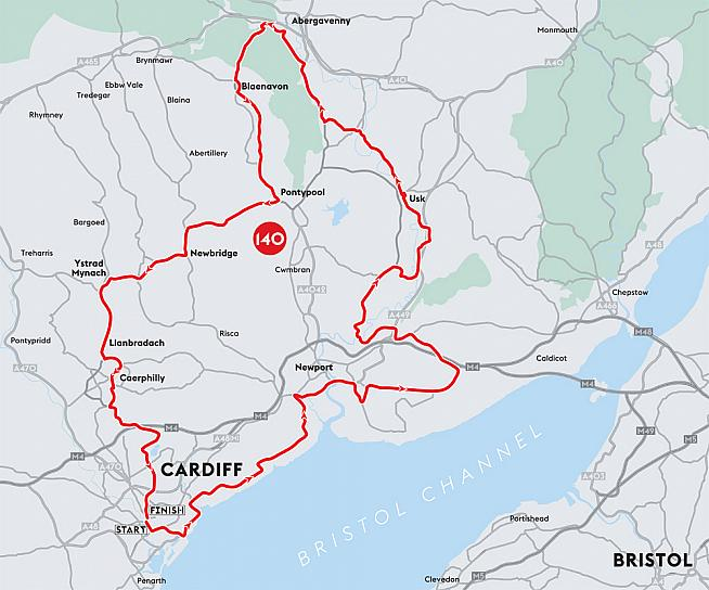 The Velothon route takes in 140km of prime Welsh countryside on closed roads.