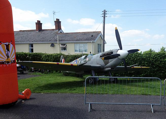 Cockpit tours of a full-scale Spitfire replica were on offer at event HQ.