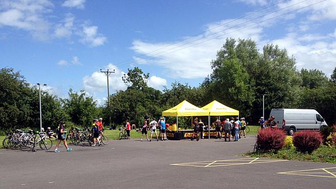 East Huntspill village hall hosted one of the feed stations.