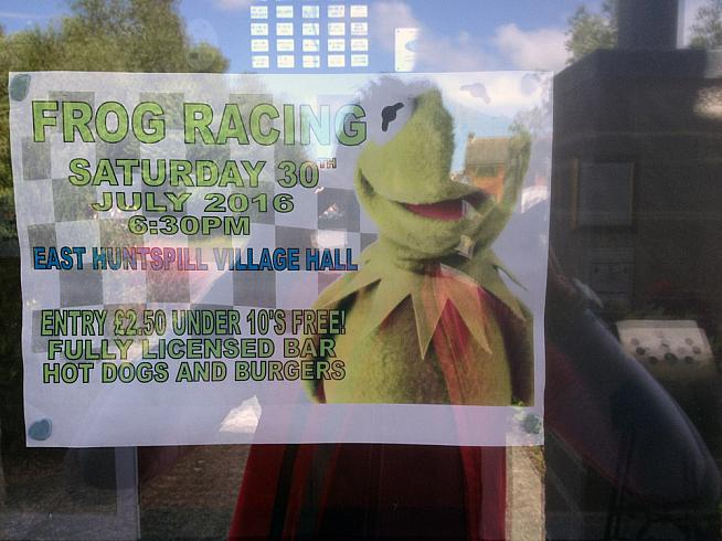 Success in frog racing requires high levels of kermitment.