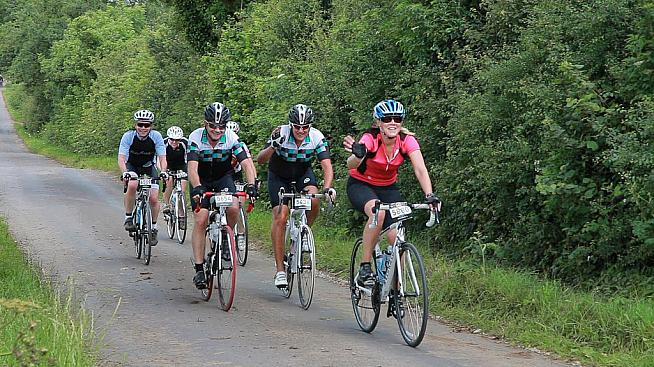 Riders looking chipper on the Wiggle Mendips Sportive. Photo: UKCE