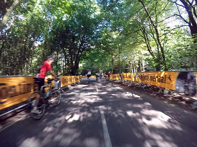 Leith Hill is one of the toughest climbs on the course.