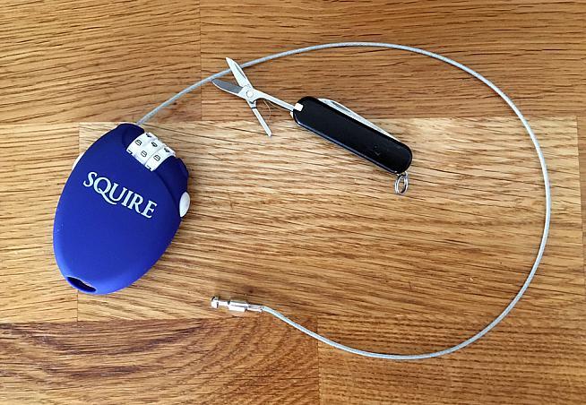 Review: Squire Retrac 2 combination cable lock | Sportive.com