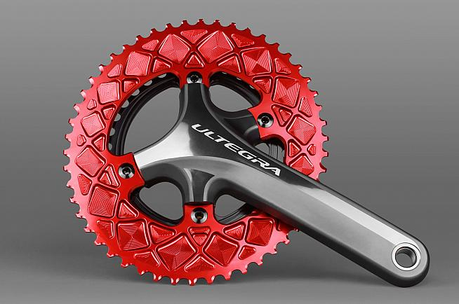 Premium Oval road chainrings from Absoluteblack are designed to increase pedalling efficiency.