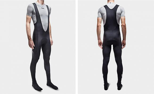 Isadore's Thermoroubaix Tights are padded winter tights with bib straps for long rides in cooler weather.
