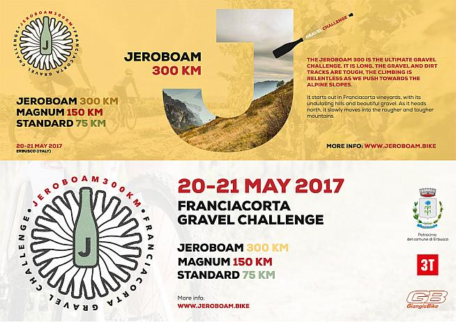 The new Jeroboam Gravel Challenge takes place in Erbusco on 20 May.