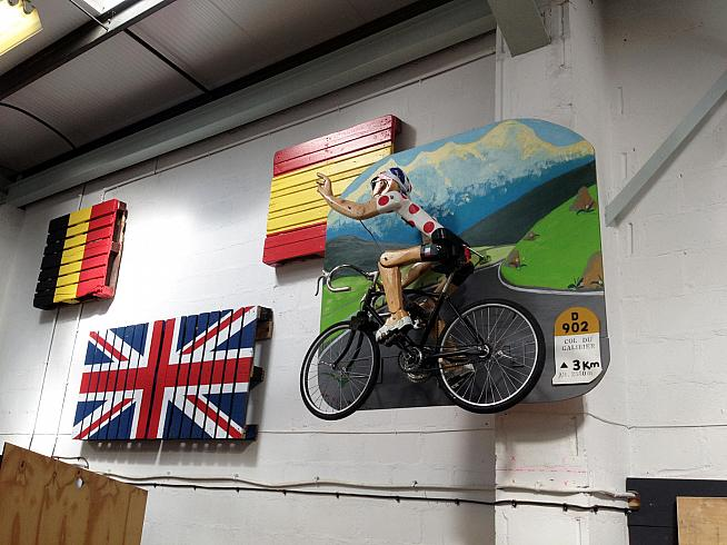 Back at The Bike Shed there's a chance to check out cycling-themed curios.