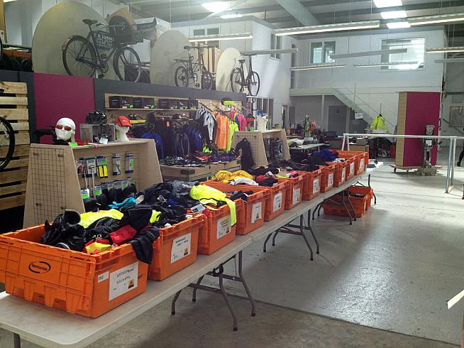 Pick up a bargain from the boxes of cycling jumble at The Bike Shed.