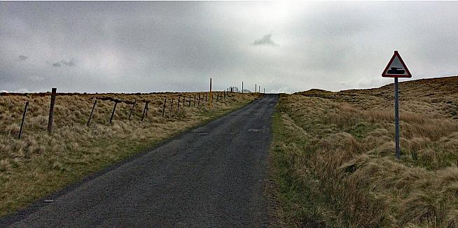 The route cuts across army firing ranges usually off limits to the public.