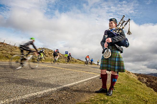 The faster you finish the KOM challenge the sooner you can escape the piper.