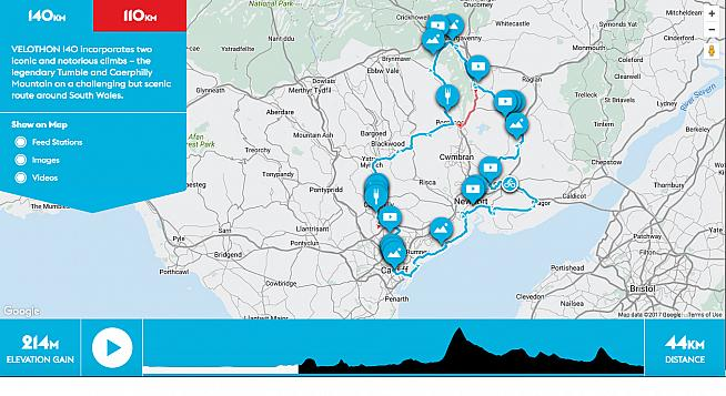 Take a virtual tour of the Velothon Wales course with the new interactive map.