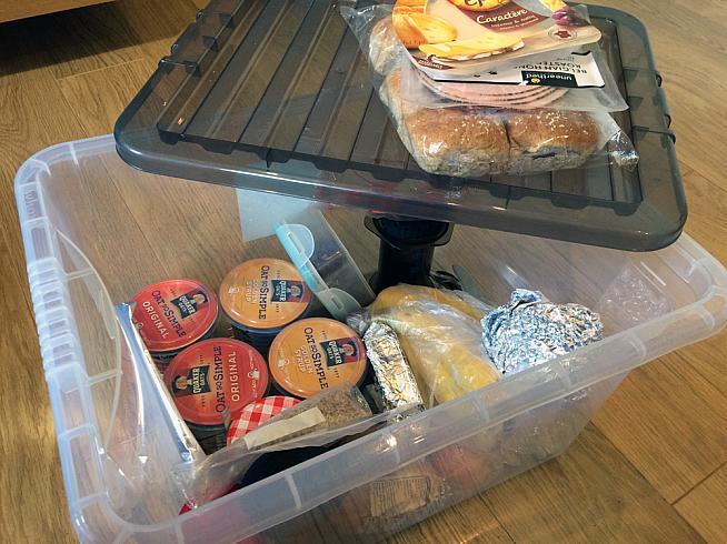 Jim's impressive lunchbox.