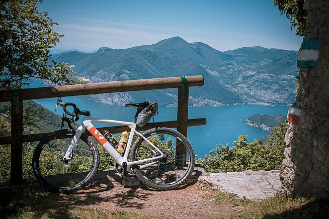 The new 3T Exploro gravel bike proved an able companion on the mixed terrain of the 150km Magnum distance.