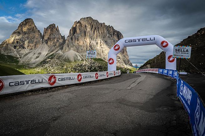 The top of the Passo Sella. Photo: Sportograf