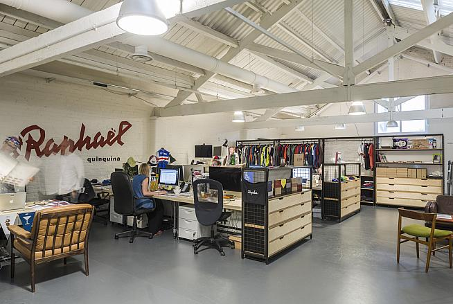 Rapha HQ featuring the logo of the St Raphael team that inspired the brand's name.