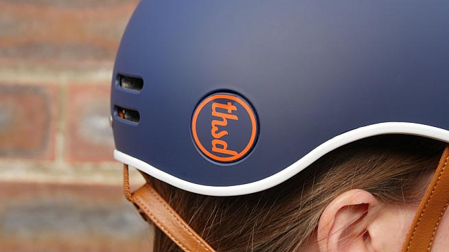 The helmet's USP is a pop-out section that lets you lock your helmet to your bike.