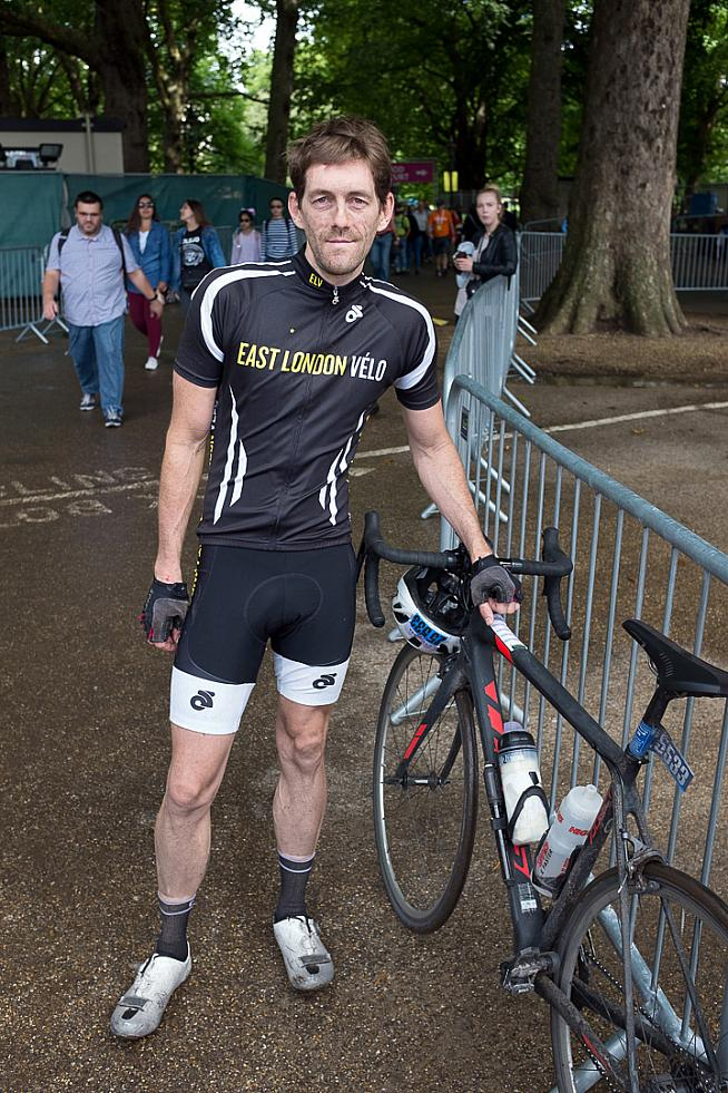Sportive reporter Dan Baker finished in a lead group alongside the author. Photo: Alistair Cunningham