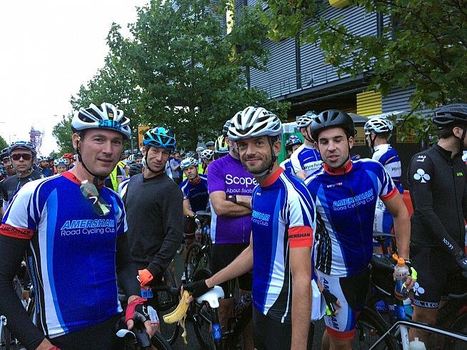 An early start for Dan and team mates at the 2017 RideLondon-Surrey 100.