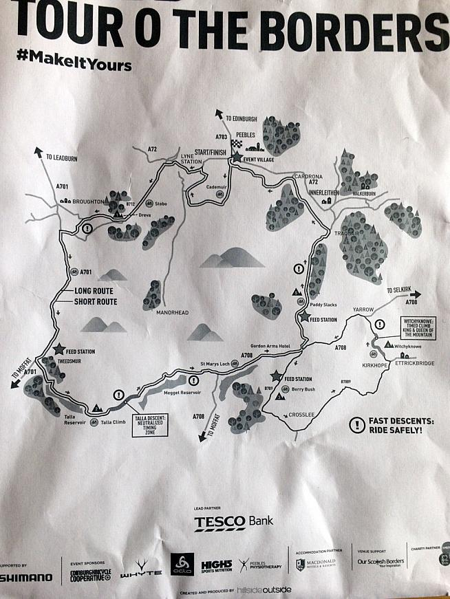A souvenir map from the day.