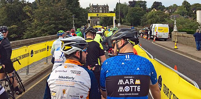 Ready for the off in Peebles. Photo: OllyTownsend