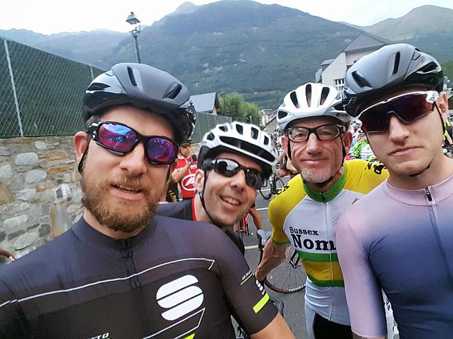 Team Tourmalet: L-R Kev Gary Dave and Ross. Photo: Kev Witton