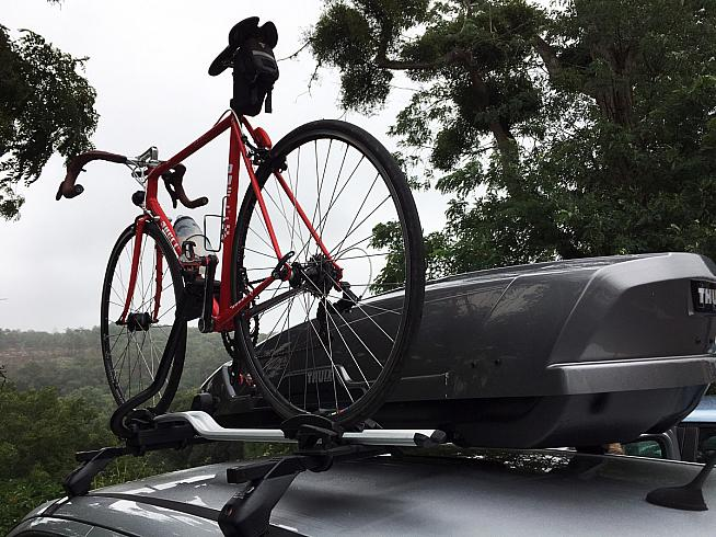 Mount the ProRide on the right-hand side of your car for easier access (not like this!).