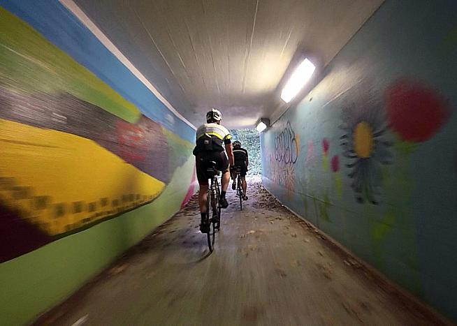 It's like Zwift but in real life! Dave takes the underground route to Box Hill.